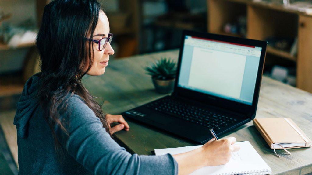 University of California, Irvine student doing online homework