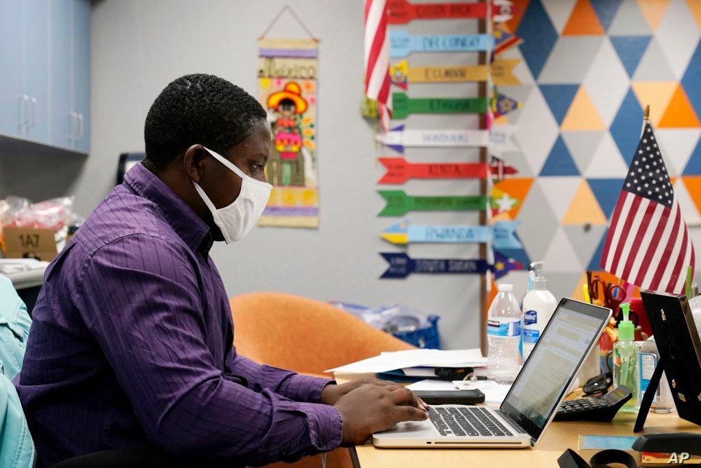 University of California, Irvine student taking online class