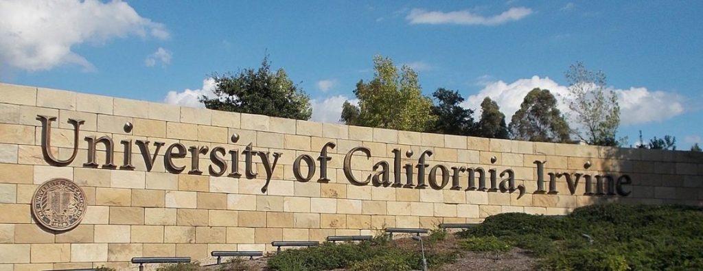 University of California, Irvine campus sign